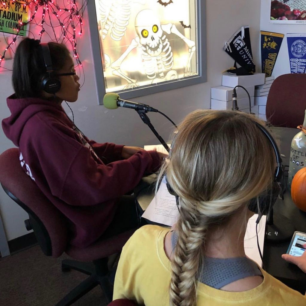 Julie James and Erin Richardson read News, Sports and Weather.