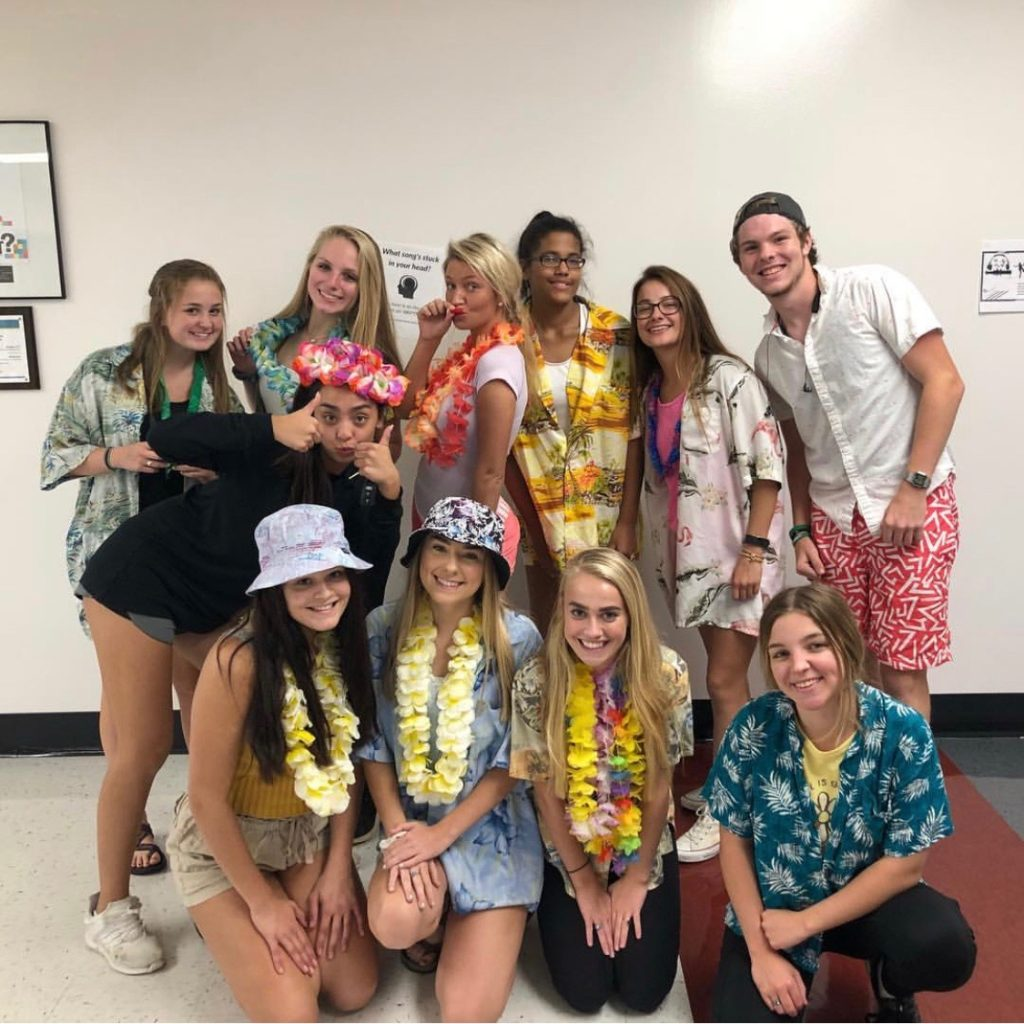 Staff during spirit week!