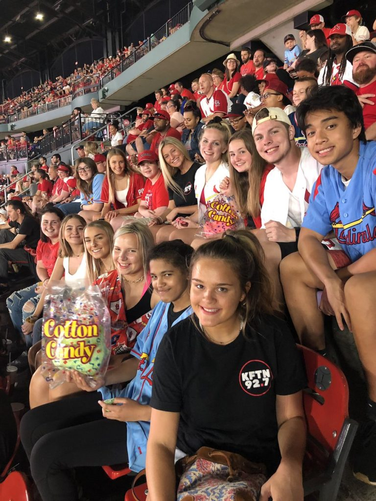 Staff at the Cardinal's game