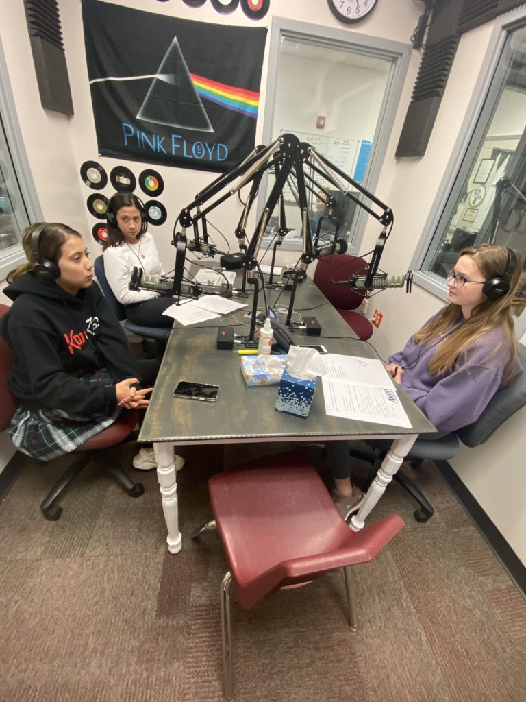 Profile guest Jamalon Alonso on air with hosts Madison Anderson and Alyssa Mueller
