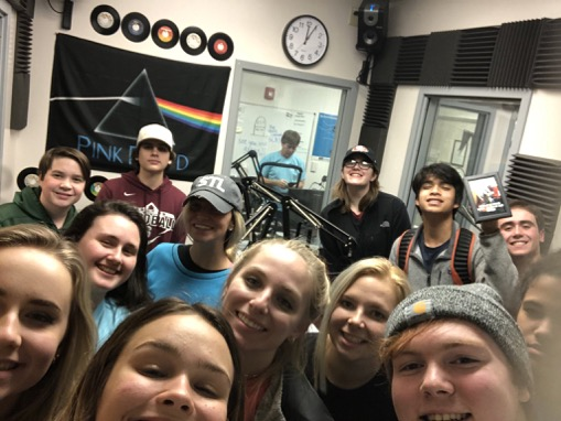 KFTN staff after completing the 2019 fall Rockin' Lock-In